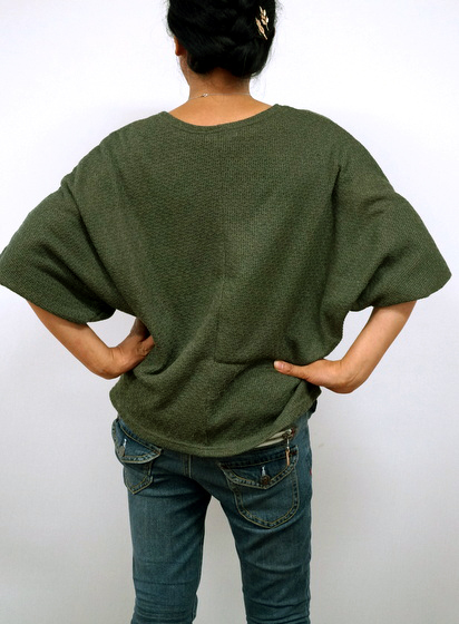 【Qoo10】安さに釣られて、 つい買ってしまいました!ざっくり編みのサマーニット