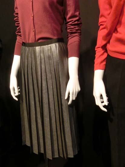 Foil print middy skirt