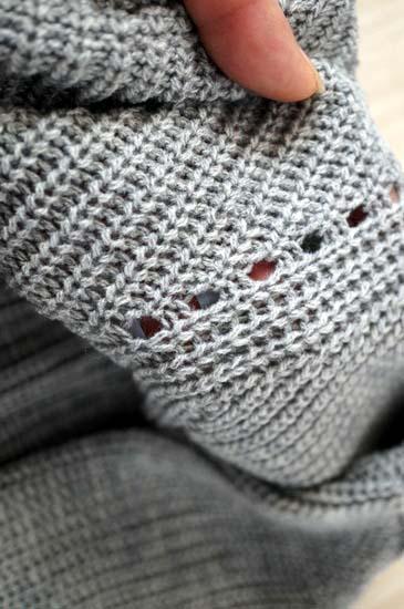肩の編み柄