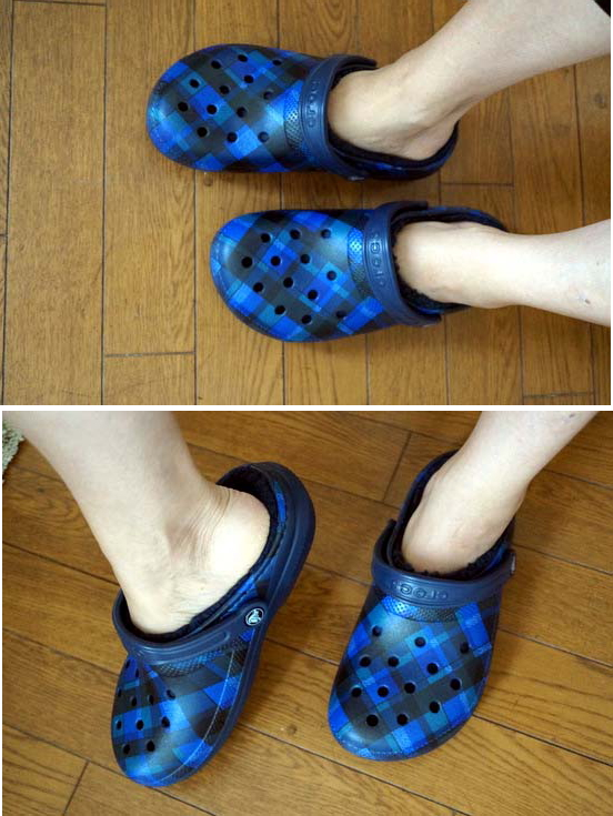 classic lined graphic clog-slippers