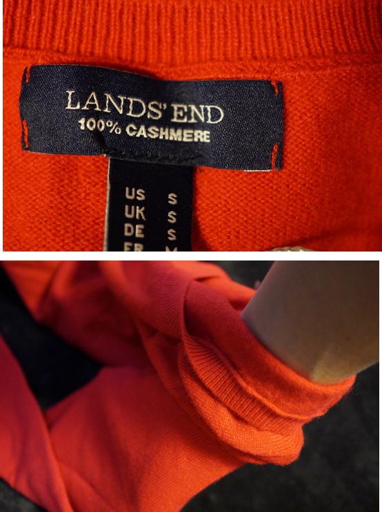カシミア赤sweater