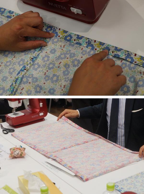 skirtをミシンで縫う