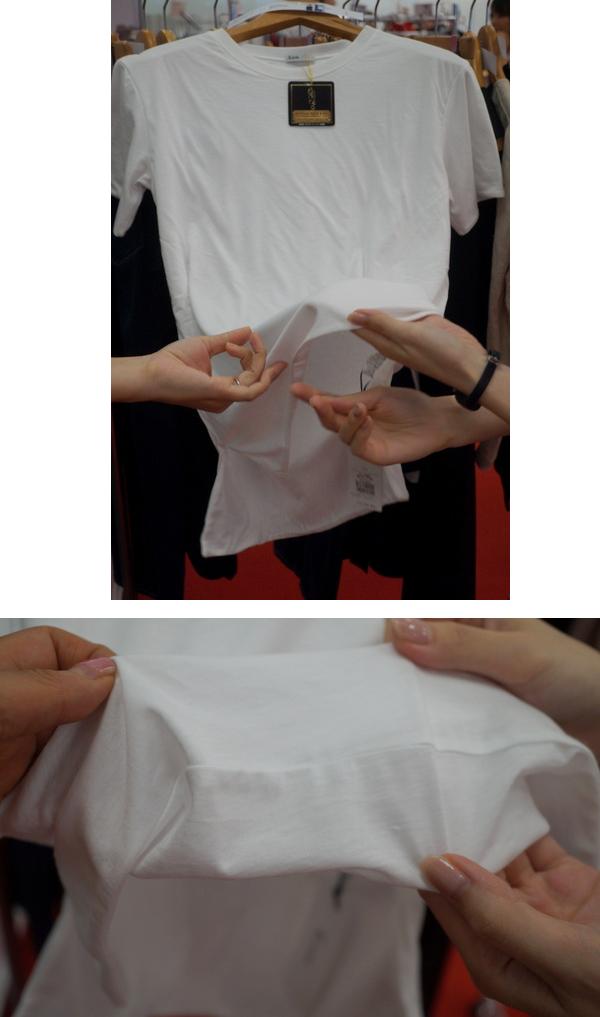 二枚仕立てのTシャツ