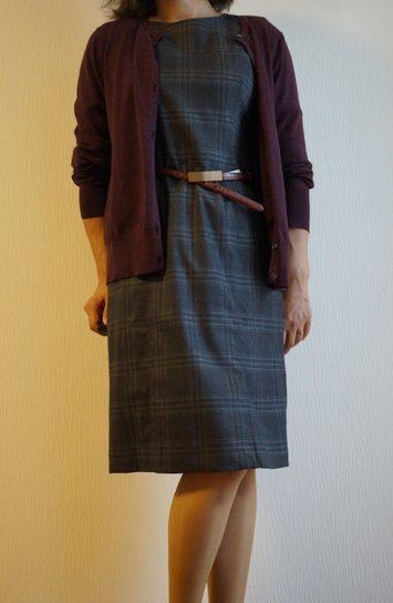 ランズエンドの美形ドレスとカーデ