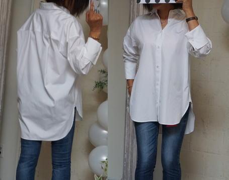 白いシャツの着方