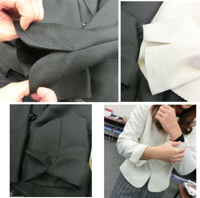 フォーマルスーツジャケットの袖口