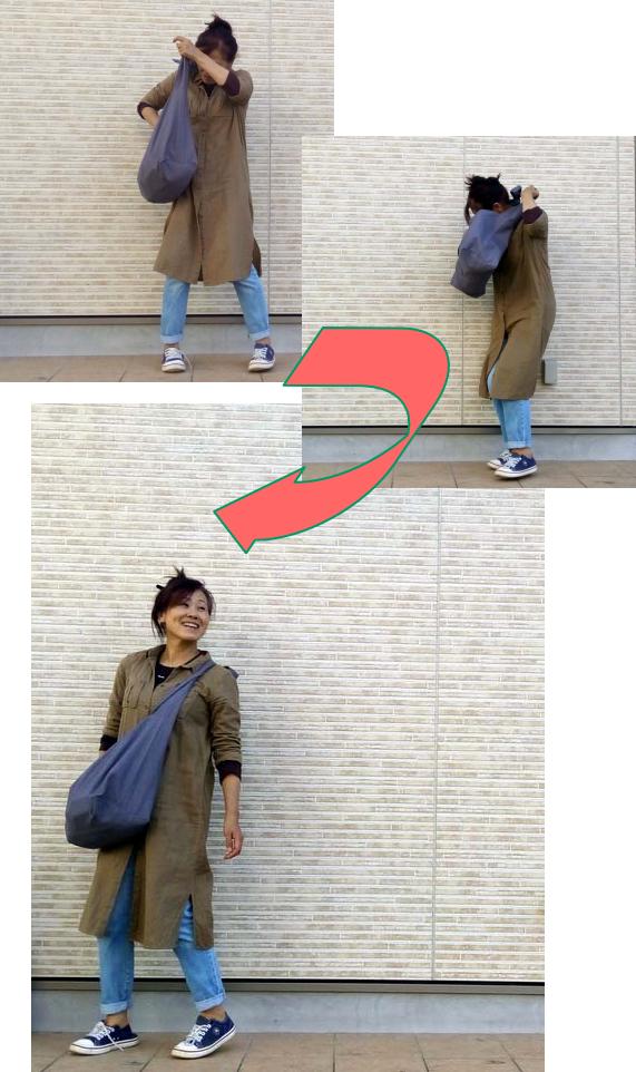 大人のメッセンジャーバッグの例
