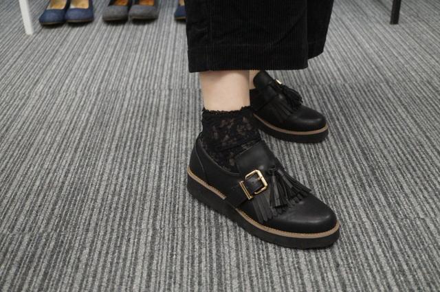 黒レースの靴下