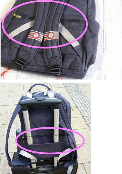 背中のポッケ