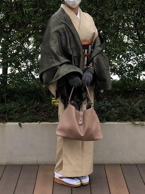フェリシモバッグを着物で
